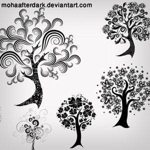 Decorative Trees Brushes