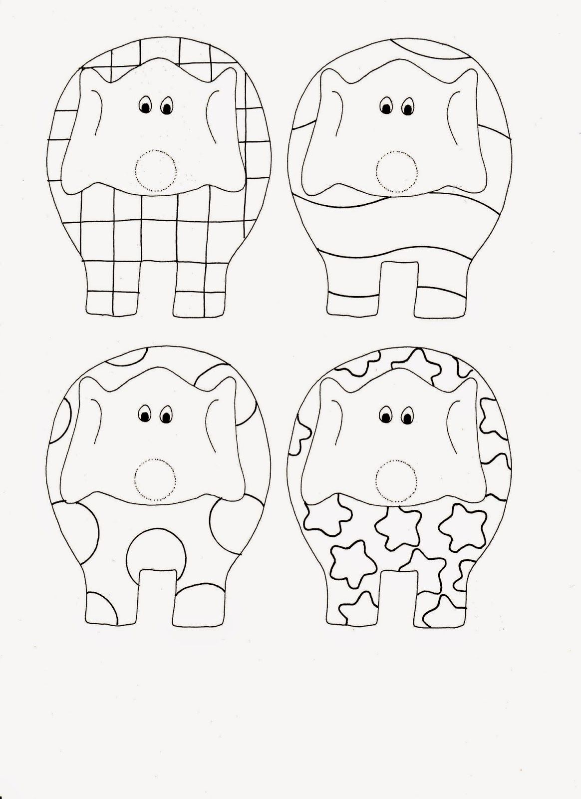 Elmar Elefant Kinder Buch basteln Fingerpuppe Vorlage ausmalen