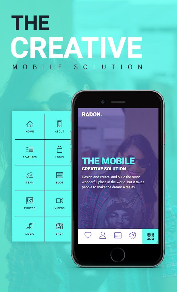 Radon Html Mobile Template Mobile Template Mobile Solutions Templates