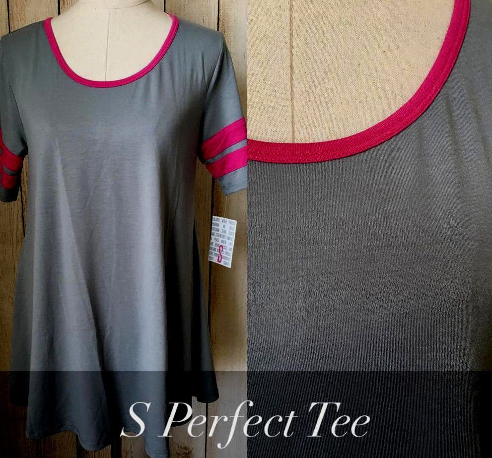 LuLaRoe White /& Black Perfect Scoop Raglan Stretch T-Shirt Top Soft Blend RARE