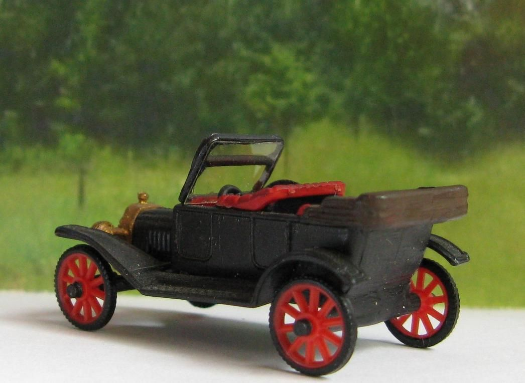 Ho Model Car Systems Layouts - Ford model t touring car 1921 1 87 ho scale model railroading