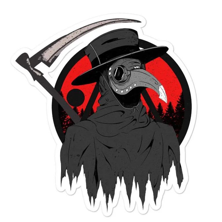 I Made This Sticker Hope You Like It Medievaldoctor Plague Doctor Plauge Doctor Skeleton Illustration