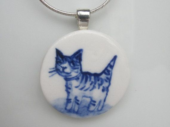 hello kitty...Small cat pendant necklace...