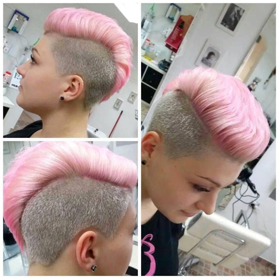 What do you think of her cut and color hair pinterest mohawks