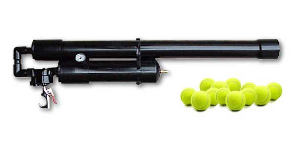 Tennis Ball Air Cannon | Air Cannons | Air cannon, Guns ...