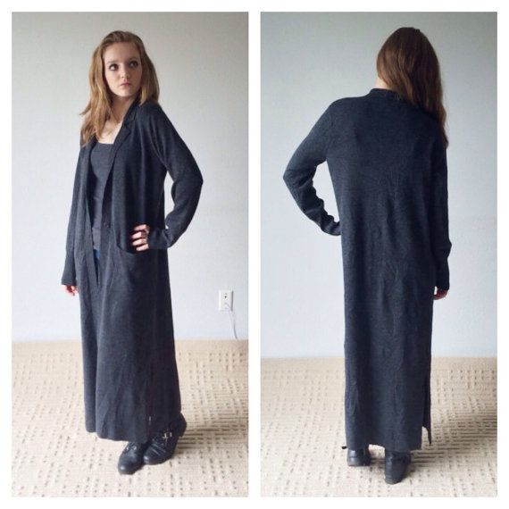 90s duster, long cardigan, wool blend cardigan, duster coat, floor