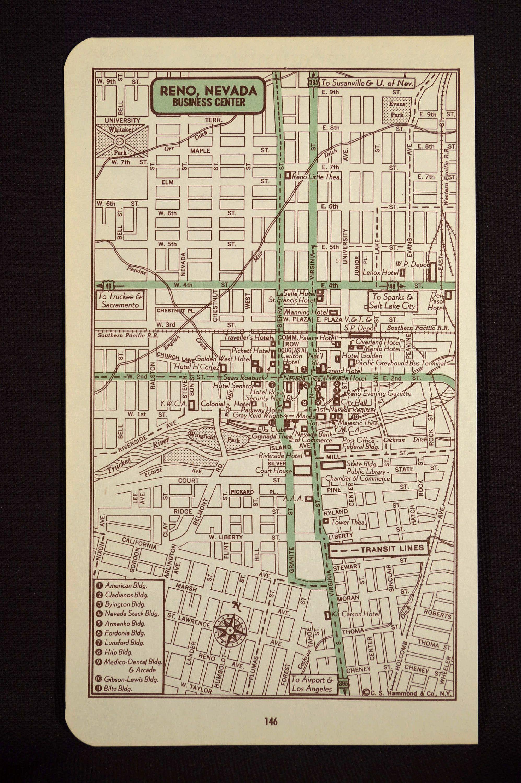 reno nevada street map Reno Map Reno Street Map Vintage Wall Art Nevada Street Map reno nevada street map