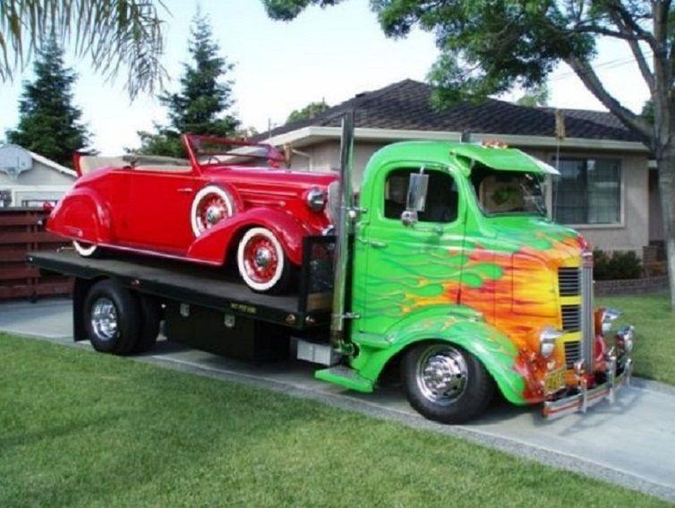 Classic Custom Car Hauler Trucks, Trucks only, Cool trucks