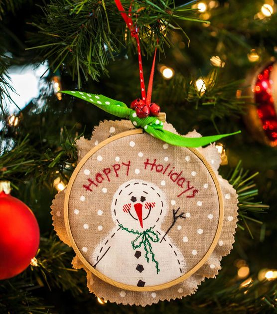 Embroidery Hoop Ornament Joann Jo Ann Holiday Crafts Kids Christmas Ornaments Christmas Party Crafts