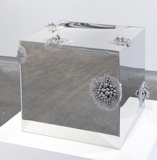 Alyson Shotz, Magnetic Force, 2011 (Stainless steel, neodymium magnets)