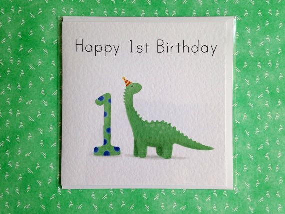 Personalised Dinosaur 1st Birthday Card For Boy Son Etsy 1st Birthday Cards First Birthday Cards Birthday Cards For Boys