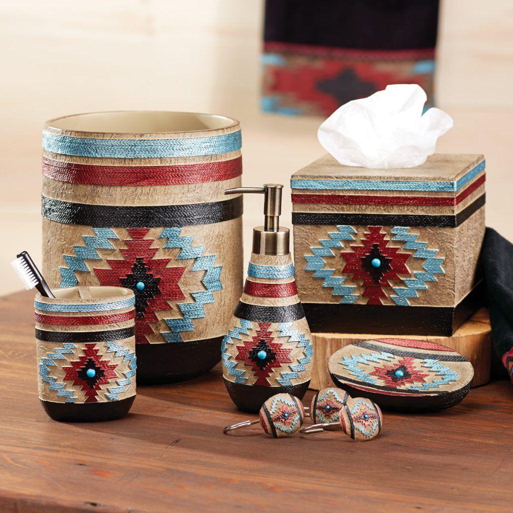 Ahote Native American Bath Accessories Western Bathroom