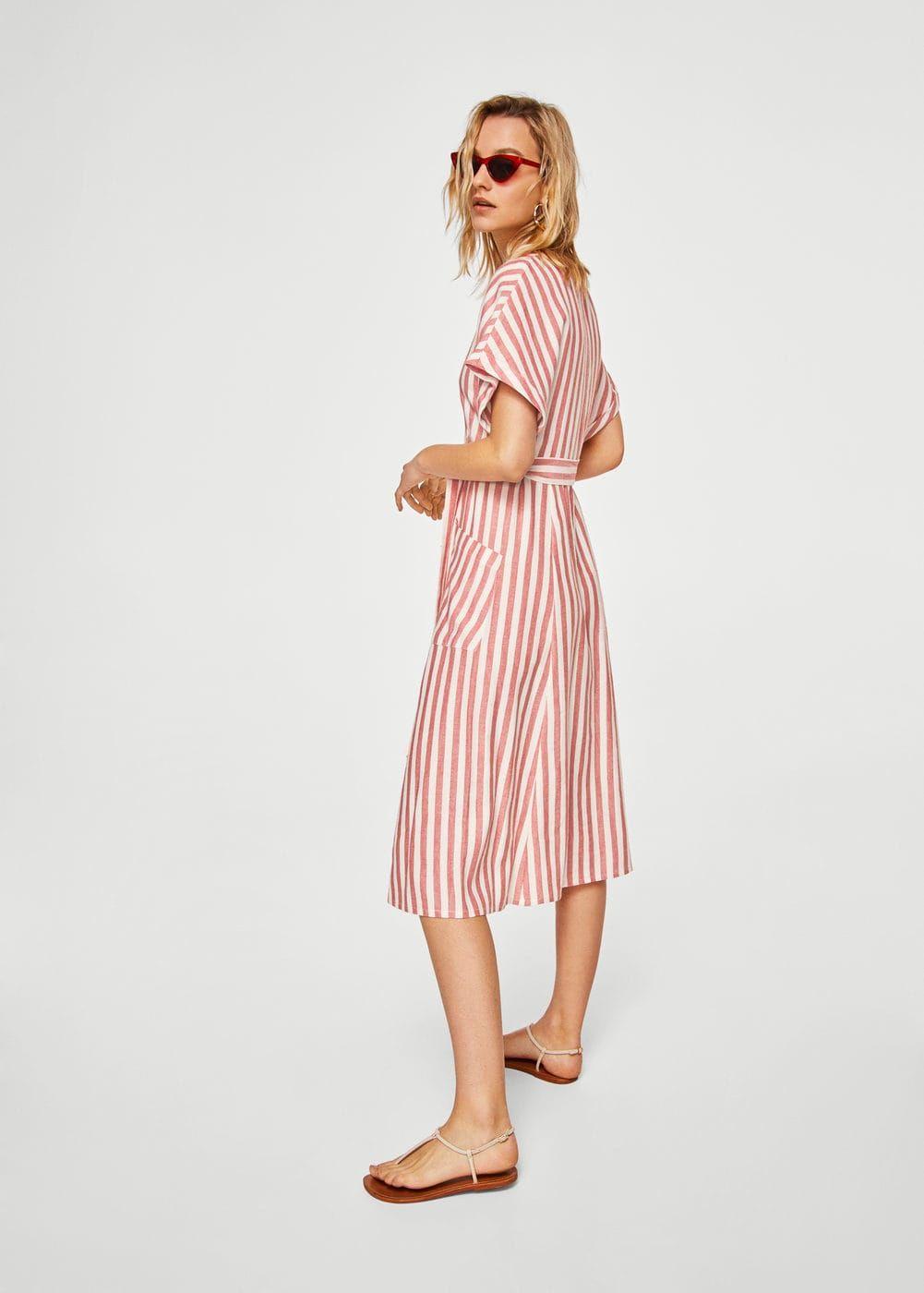 26dd538524 Vestido algodón rayas - Mujer en 2019