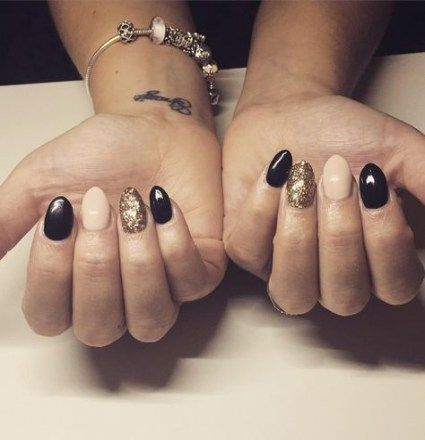 nails almond nailart rings 47 ideas  gold glitter nails