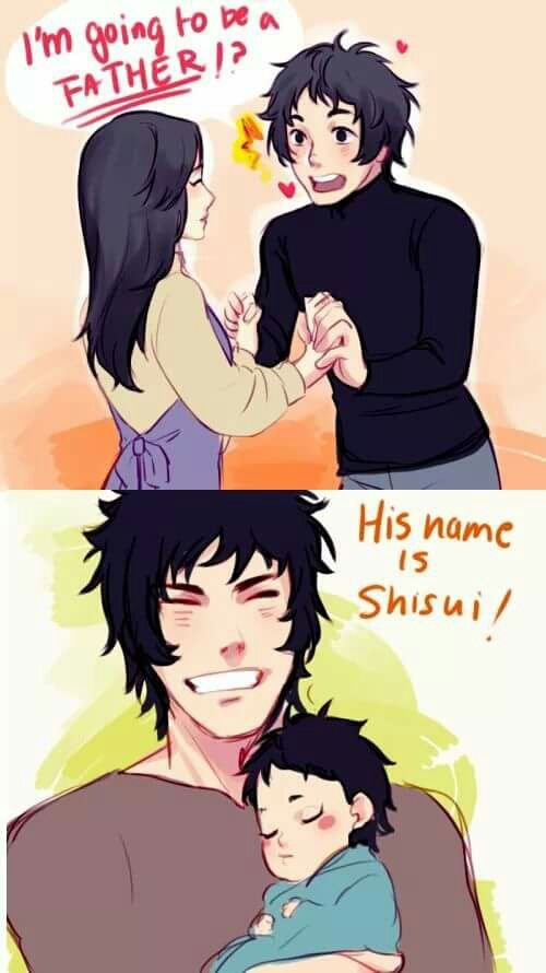 Is Kagami Shisui S Father Doesn T Seem Right Maybe His Grandfather Though This Is Probably Kagami S Son And Daughter In Law Shisui Uchiha Anime Naruto