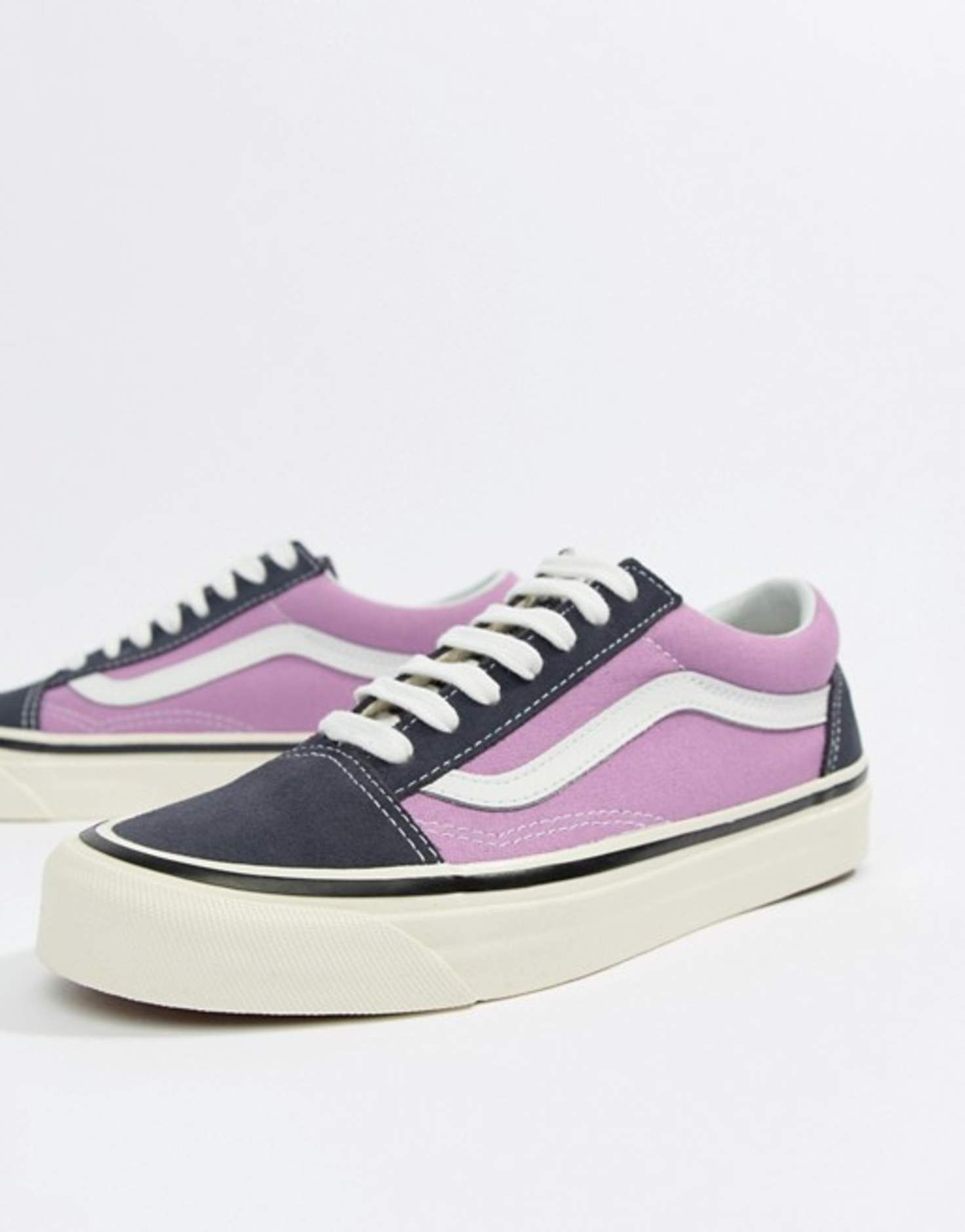 Vans Anaheim Old Skool Sneakers In Og Navy And Lilac at asos.com ... 9fb5f440e