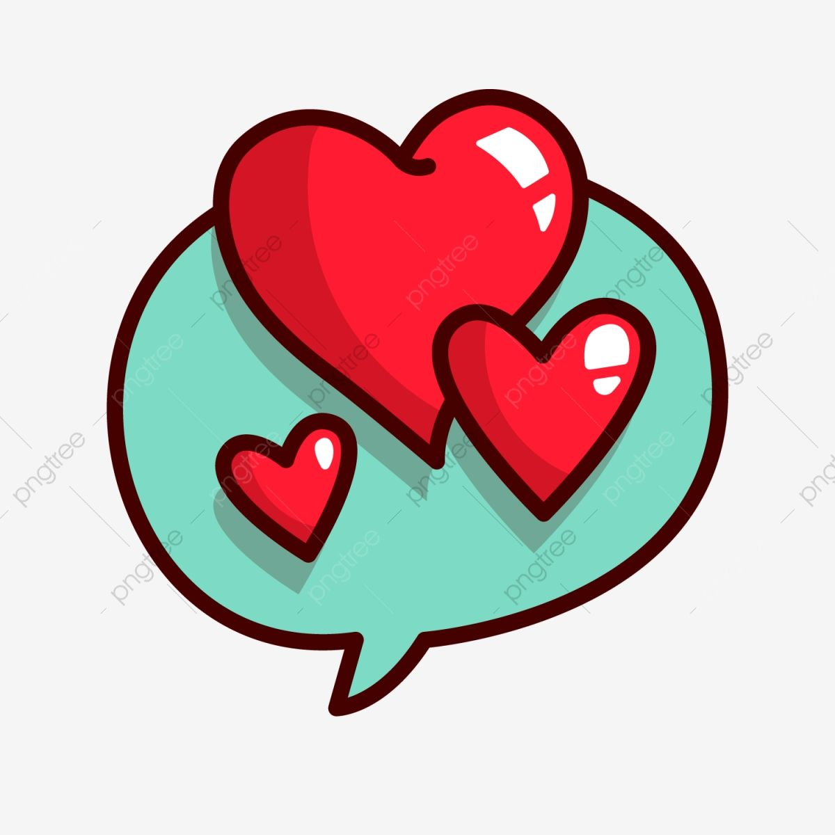 Cartoon Love Red Love Background Decoration Heart Shaped Dialogue Love Clipart Illustration Cartoon Love Png And Vector With Transparent Background For Free Love Heart Drawing Love Stickers Cartoon Heart