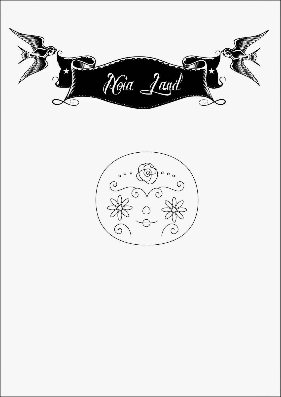 Noia Land: Tutorial: Bordado Catrina mexicana. | caballito
