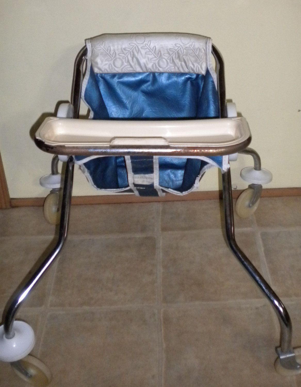 Antique Toddle Time Baby Walker Wonderful Condition