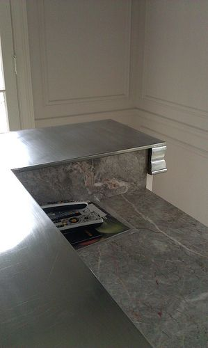 Zinc Countertops Close Up