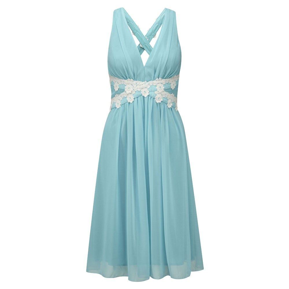 Blue bridesmaid dress dream wedding pinterest weddings