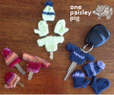 DIY gehäkelte Schlüsselüberzieher für den Winter Handschuhe/Pullover ...