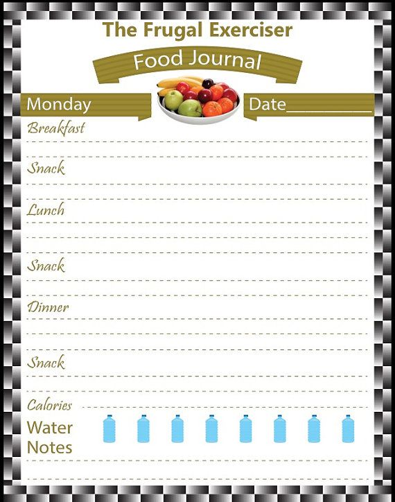 food journal food diary weight loss journal weight loss tracker