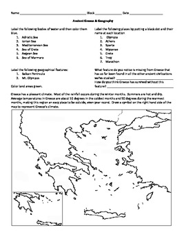 39+ Ancient greece map worksheet answer key Live