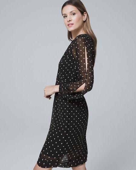 fe10abe036fec Women s Polka Dot Soft Blouson Dress by White House Black Market