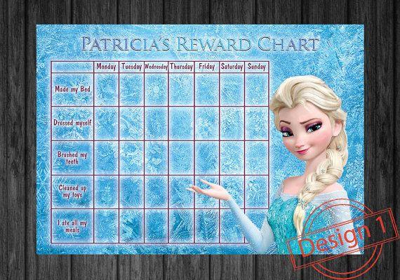 disney frozen kids rewards chart chart for by