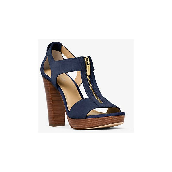02442a1beee MICHAEL Michael Kors Berkley Suede Platform Sandal ( 120) ❤ liked on  Polyvore featuring shoes