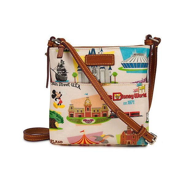 Walt Disney World Letter Carrier Bag by Dooney Bourke Retro ($175) ❤ liked on Polyvore