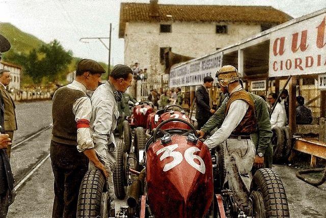 Tazio Nuvolari & Achille Varzi / MASERATI 8CM. 1933 - LASARTE. | Maserati, Racing, Race cars