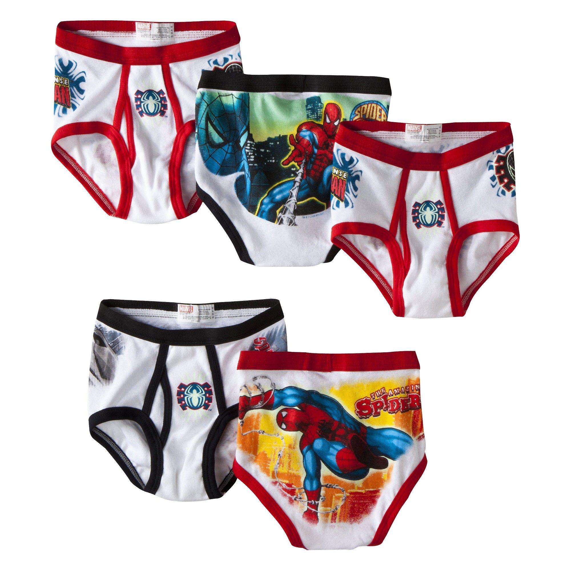 Marvel Comics Amazing Spiderman 5 Pack Boys Boxer Briefs for boys 8