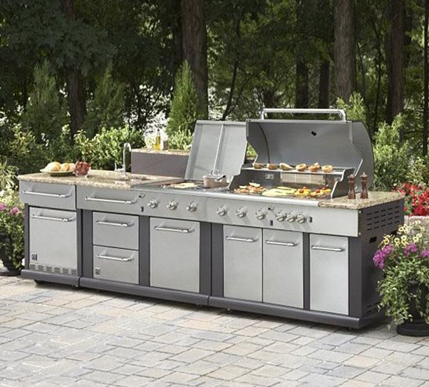 Outdoor Kitchen At Lowes Outdoor Kitchen Kits Outdoor Kitchen Appliances Outdoor Kitchen