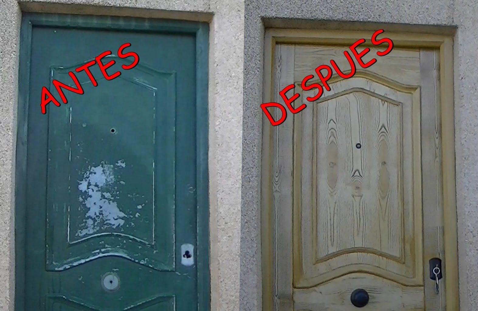 Como pintar metal para que parezca madera paso a paso - Pintar puerta galvanizada ...
