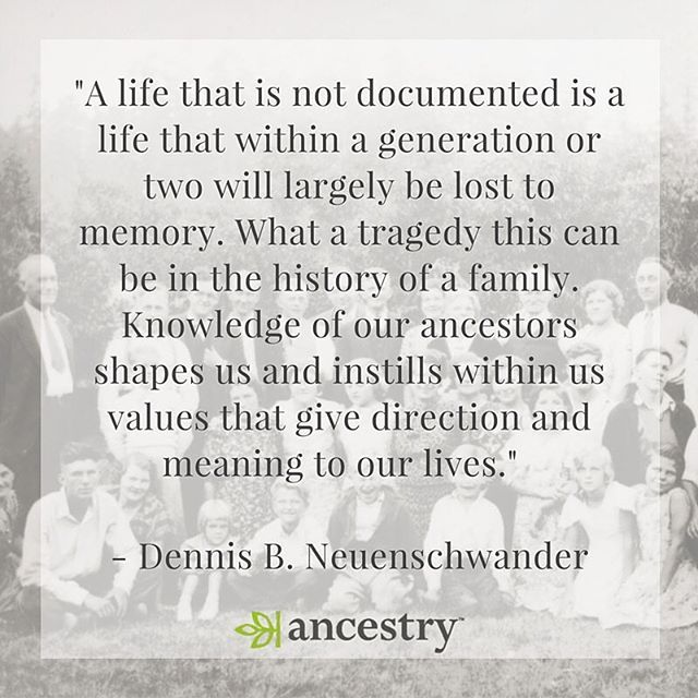 Don't let your family history be lost to time. ancestry