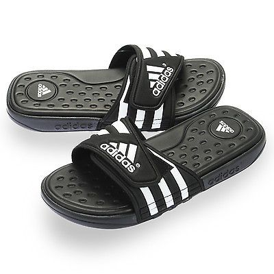 c0a02f0614ae Adidas Adissage SC Mens G19102 Black White SuperCloud Slides Sandals Size 10