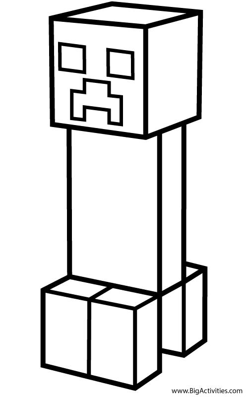 Coloring Minecraft Creeper