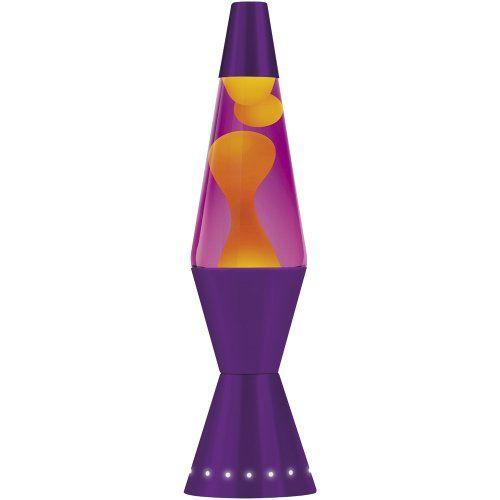 Lava Lite 4201 17 Inch 32 Oz Designer Lava Lamp Yellow Wax Purple Liquid Purple Base Lava Lamp Purple Lava Lamp Motion Lights