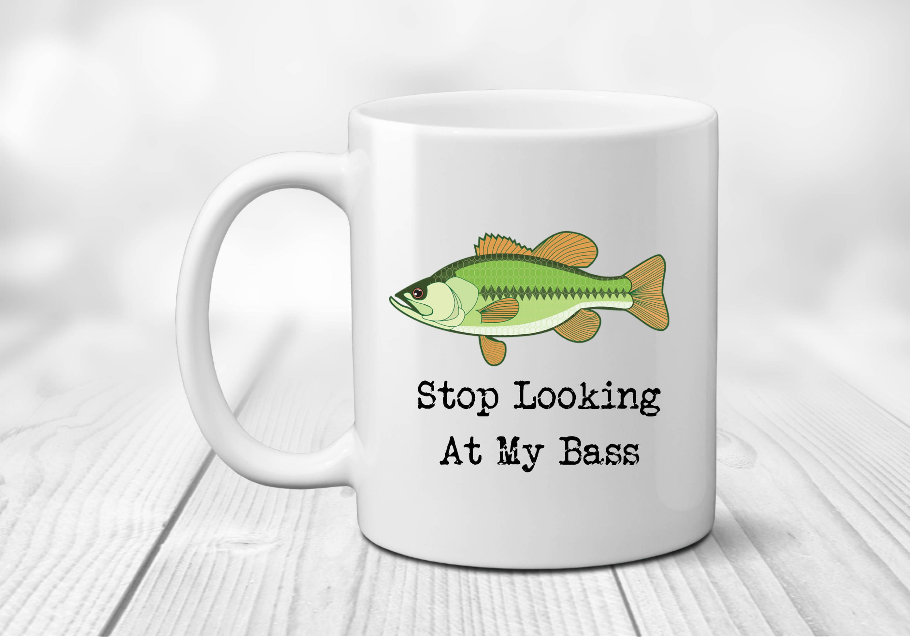 Bass Fishing Gifts, Fish Coffee Mug, Bass Fishing Mug