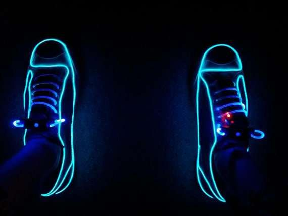 50 Wearable Glowing Accessories | Neon sneakers, Neon shoes