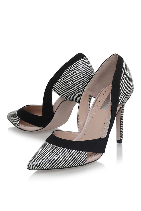 Miss KG Ceile Pointed Toe Court Shoes, Black/White | Heels, Black, white court shoes, Court shoes