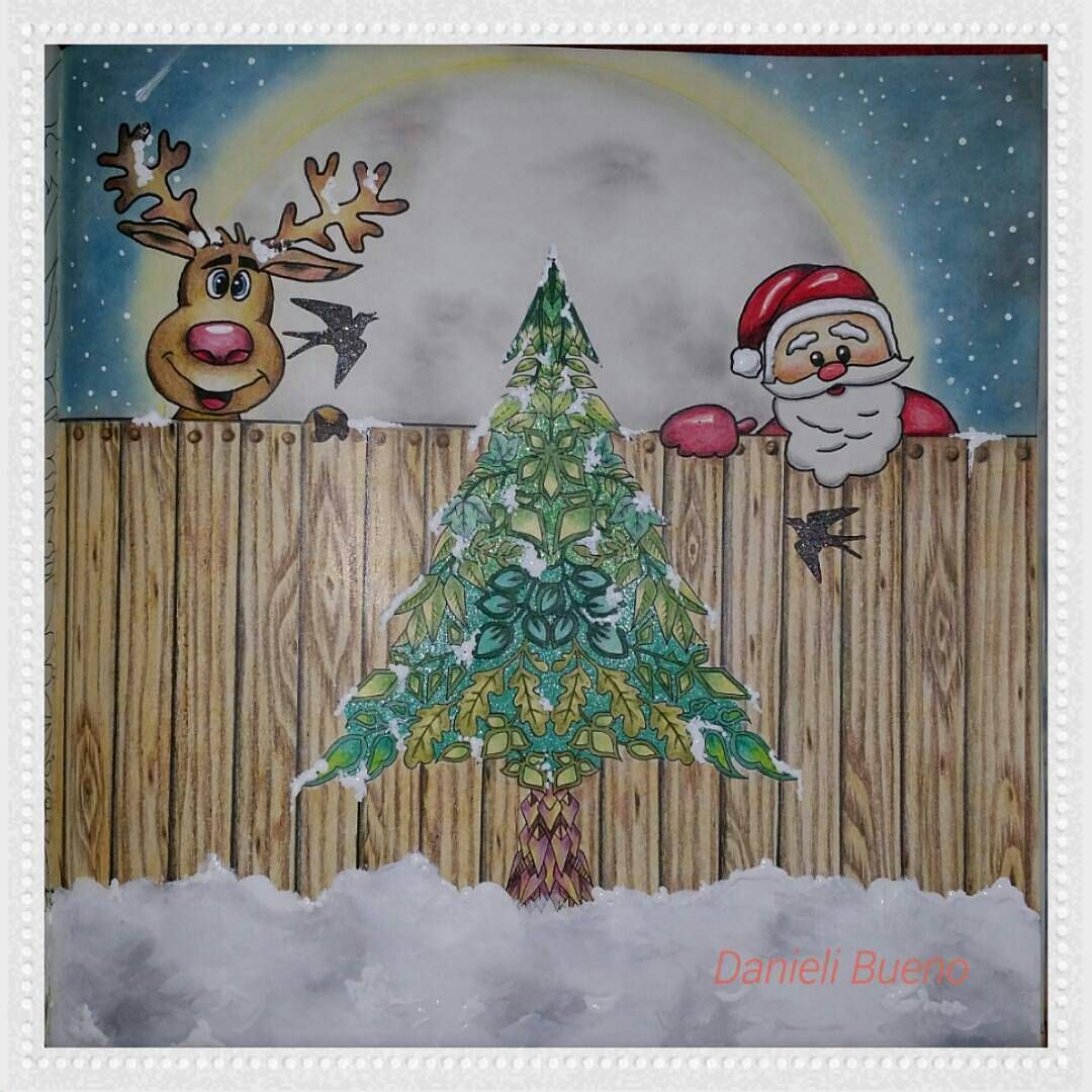«Que fofo!!!!! Amei!!!! Natal chegando e a inspiração também!!!! @Regrann from @danieli_vivercolorindo -  26.11.15  #Regrann #artecomoterapia…»