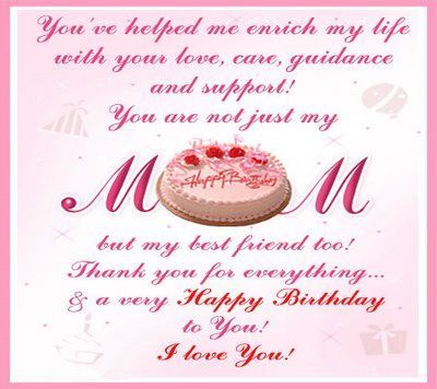 Birthday Greetings For Mother Message Happy Mom Cards