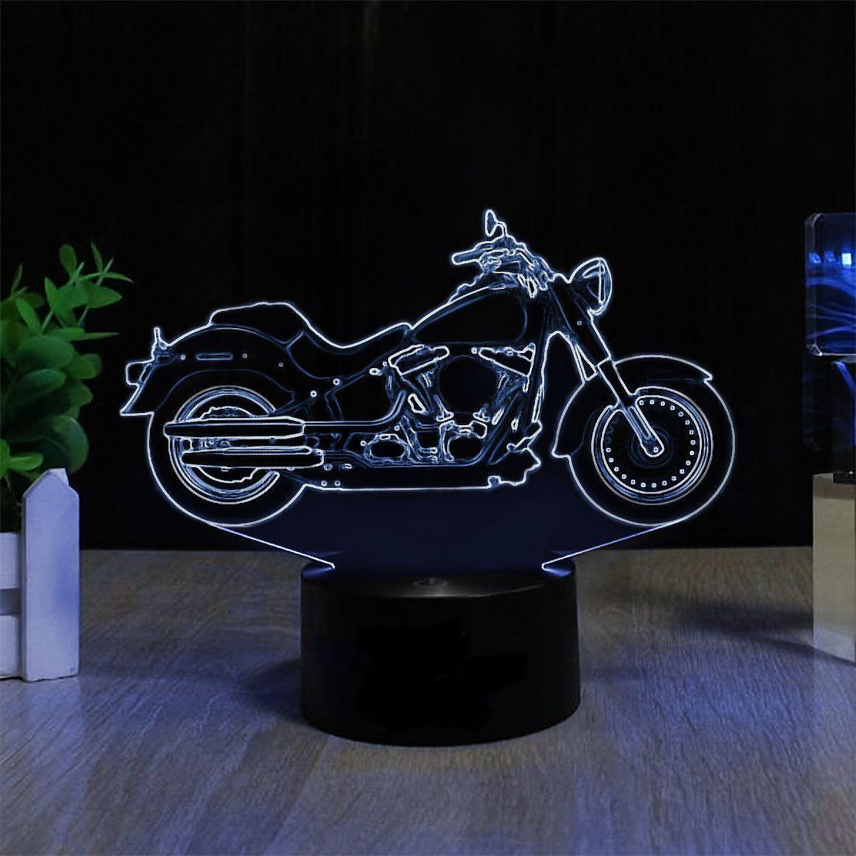7 Color 3d Harley Led Lamp Lazer