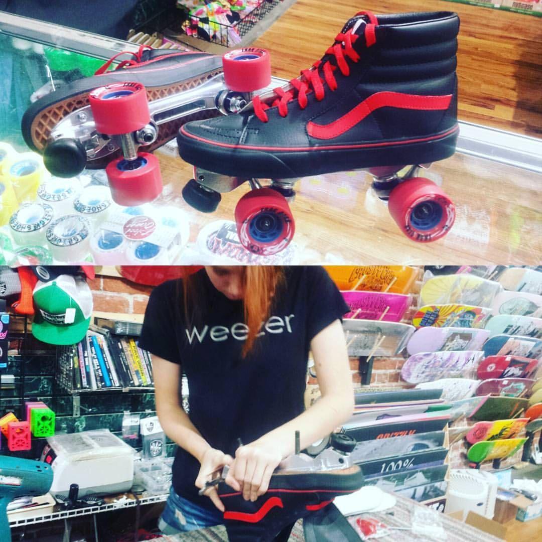 Vans Chicks in Bowls custom roller skates CIB skatepark