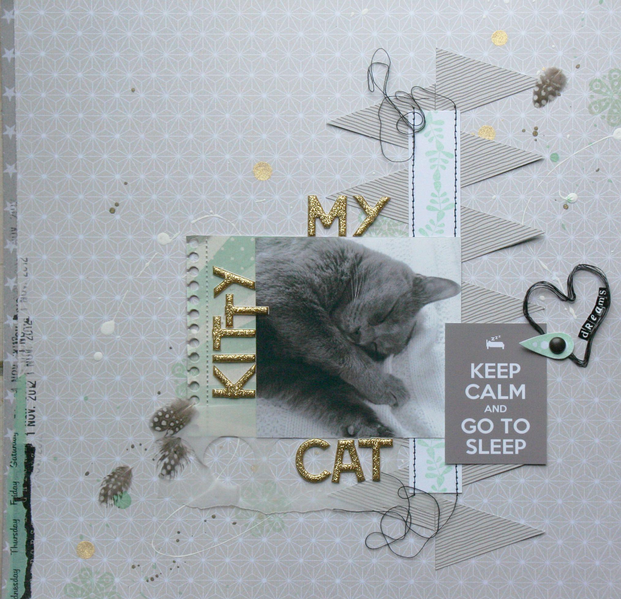 My Kitty Cat Scrapbook Scrapbooking And Cross Stitch
