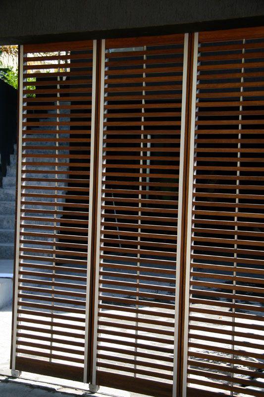 House Loader Street Cape Town Iroko Sliding Shutters Aluminium