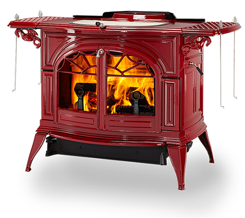 Compact And Efficient The Intrepid Ii Wood Stove Offers Classic Warmth And Timel Wood Burning Stove Vermont Castings Wood Stove Wood Burning Fireplace Inserts
